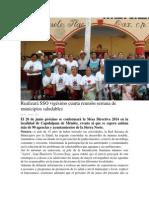 05/06/14 oaxaca.me Realizará SSO vigésimo cuarta reunión serrana de municipios saludables