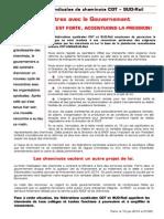 Tract Unitaire CGT SUD 2eme Rencontre Ministérielle