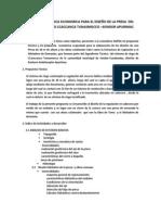 Propuesta Tecnica Economica Para El Diseño de La Presa Del Sistema de Riego Ccaccanca Tunasmocco