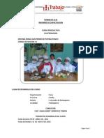 Formato B-33 Informe de Capacitacion - Curso Tecnico Productivo
