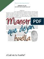 60689851 52940022 SEMINARIO TALLER Maestros Que Dejan Huella Escuela Dominical