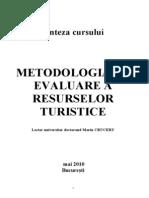 Metodologia de Evaluare a Resurselor Turistice