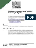 PfR Master Controller Redundancy