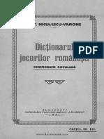 Dictionarul Jocurilor Păopulare Romanesti. Coregrafie Populara