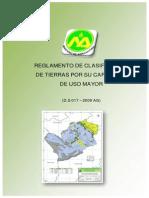 DS 017-2009-AG_Reglamento de Clasificacion de Tierras Por CAPUSO