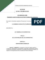 Ley 356 Ley General de Cooperativas