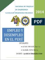 Empleo y Desempleo en El Peru