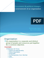 Effect of Economic and Political Changes on the Environment of an organization