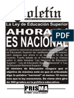 Ley Nacional de Educacion Superior