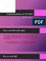 ISO 9001 - 2008 Implementation
