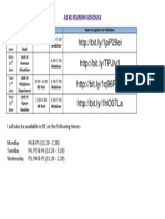 A2 Revision Schedule