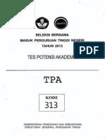 Soal Sbmptn 2013 Tpa Kode313 (ASLI)