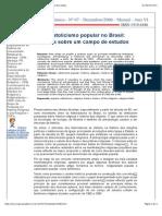 ANDRADE, S R. O Catolicismo Popular No Brasil