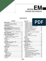 Nissan Sentra Service Manual Section Engine Mechanical