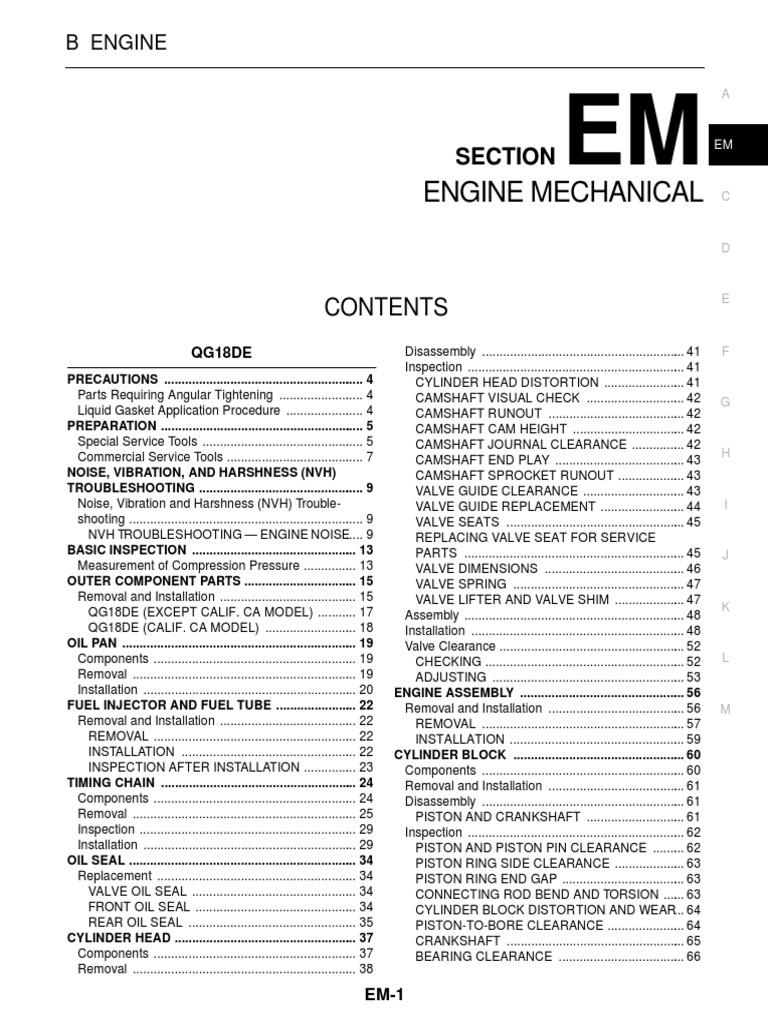 Nissan Sentra Service Manual: Precaution