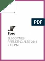 Elecciones presidenciales 2014 y paz