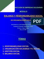 MÓDULO Balance y Responsabilidad Social en Organizaciones Solidarias. Diplomado DES. (05-08)