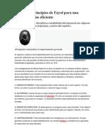 Los 14 Principios de Fayol Para Una Administracion Eficiente