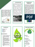 triptico reciclaje papel