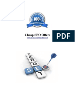 Cheap SEO Offers