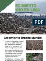 Crecimiento Urbano en Lima