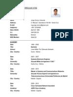 Curriculum Vitae - Jorge Orozco Valverde