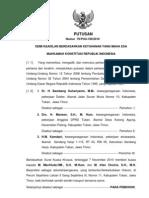 Putusan Sidang Putusan No. 76-PUU-VIII-2010 Telah Baca