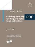 Community Libraries Research 2013 Guiding Principles