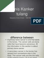 Vinski - Jenis Kanker Tulang