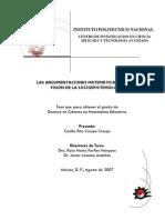 Tesis_la Argumentacion de Las Matematicas