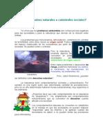 Desastres Naturales o Catástrofes Sociales