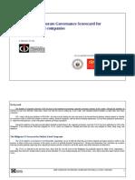 2009 CG Scorecard for PLCs