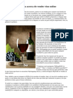 Una gran  estadistica  acerca de vender vino online