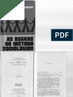 As Regras Do Método Sociológico - Durkheim (1)