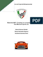Mex Guerrero-Hernandez-Quesada Mastretta MXT- Creating an Ecosystem for the First Mexican Sports Car.