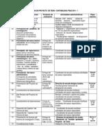 Cronograma Proyecto de Tesis Contabilidad 2014 - 1