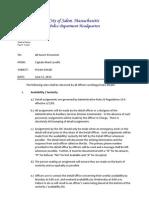 Salem Police Detail Policy June 2014