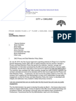 DAC Privacy and Data Retention Policy Status