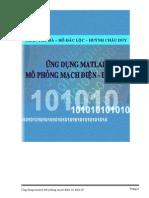Ứng Dụng Matlab Mô Phong Mạch Điện Điện Tử - Trần Thu Hà & Hồ Đắc Lộc, 110 Trang