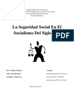 La Seguridad Social en El Socialismo Del Siglo XXI Trabjo