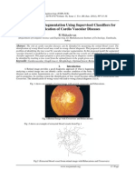 Retinal Vessels Segmentation Using Supervised Classifiers for Identification of Cardio Vascular Diseases