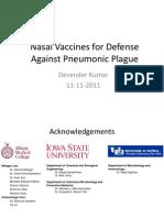 Novel Vaccines for Defense Against Pneumonic Plague