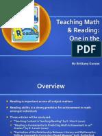 teaching reading is teaching math