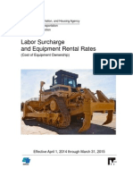 Labor Surcharge and Equipment Rental Rates