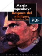 Hopenhayn Martin - Despues Del Nihilismo - De Nietzsche a Foucault