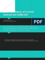 Qué Distingue Al Mundo Natural Del Artificial