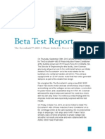 beta test report