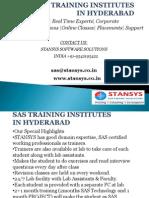 Sas Training Institutes in Hyderabad