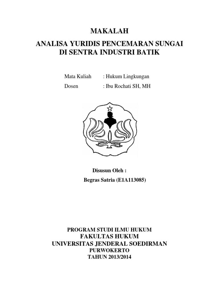 Makalah Hukum Lingkungan Pencemaran Batik