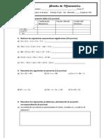 Prueba de Matemática 5° jueves 12 de junio